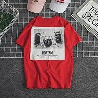 Short Sleeve Graphic Band T Shirt Men Vintage Retro Hip Hop Rock Summer Top Black Red Blusa Masculina Moda Hombre 2019 40DT015
