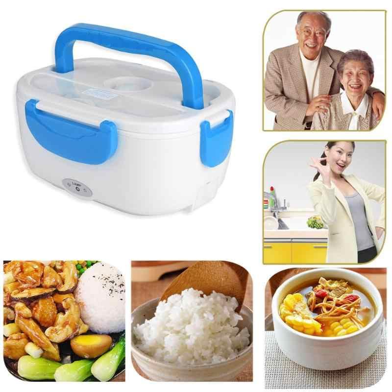 Multi-funcional Alimentos Caixa Nova Caixa Portátil Almoço Aquecimento Eléctrico Aquecedor Aquecedor de Alimentos Arroz Capacidade do Recipiente para Casa de Carro 1.05L