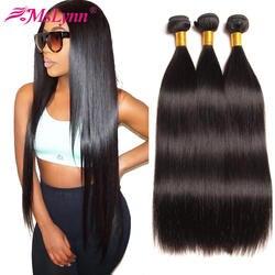 Прямые волосы пучки бразильские волосы плетение пучки натуральные волосы пучки 4 или 3 пучки не Реми волосы расширения натуральный черный