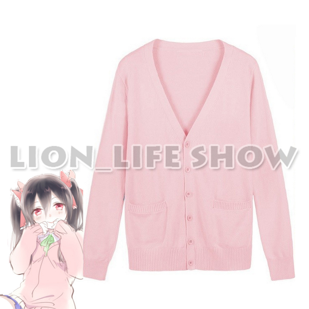 Love Live LoveLive Nico Yazawa Knitted Sweater School Girls Uniforms Colorful Long Sleeves Spring Tops Cosplay Costumes