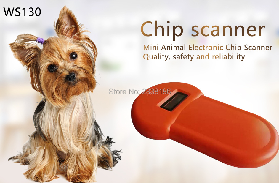 READELL Free shipping mini pet chip reader ISO11785 84 FDX B Pet Microchip Scanner Animal RFID