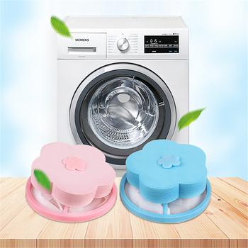 Odzież futro wyłapywacz włosów czyszczenie piłki torba pranie piłki dyski brudne włókno kolektor filtr siateczkowy pokrowiec filtr do maszyny do prania tanie i dobre opinie HG103971 14 * 9 5 cm blue pink Polyester + PE+EVA