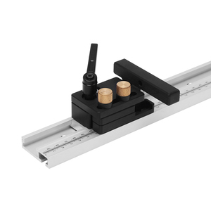 Image 2 - 600/800/1000/1200mm Aluminum Alloy T Track Woodworking T slot Miter Track with Scale/Miter Track Stop