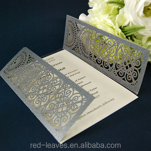 Paper Product Type Wedding Party Use Invitation Card Crafts
