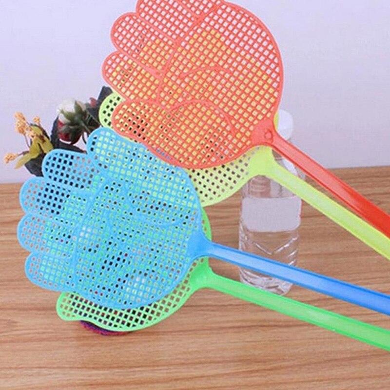 1 шт/5 шт/10 шт милый рисунок ладони мухобойка пластиковые мухи ПЭТ портативный дом для сада против комаров Хлопушка борьба с вредителями случайный цвет