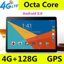 Купить с кэшбэком 2019 New Google Play Android 8.0 OS 10 inch 3G 4G tablet Octa Core 4GB RAM 128GB ROM  IPS Kids Tablets 10 10.1