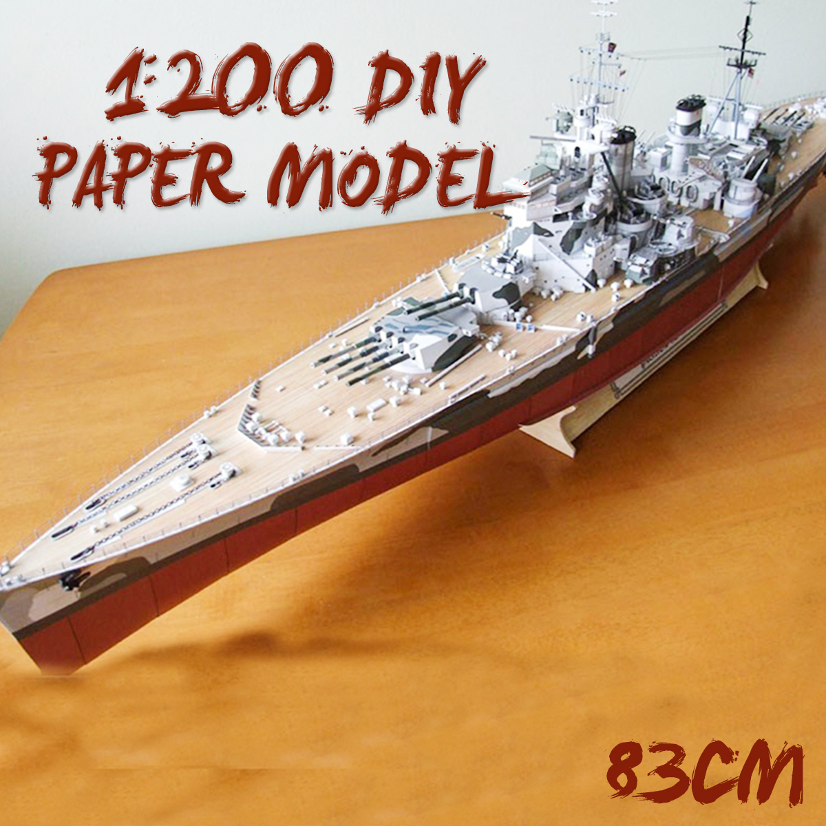1:200 Battleship DIY Large 3D Paper Model British Battleships Of Wales Ship Military Toy High Simulation Children Gifts