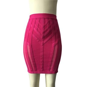 KAOUYOU Bandage Skirt simple sexy mini bandage pencil bodycon skirt