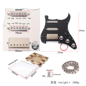 Image 5 - Loaded Prewired Pickguard SSH Alnico 5 Humbucker Pickups Plate Set for Electric Guitar Replacement Accessories Pick Guard