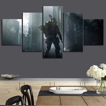 5 Piece Video Games Tom Clancys The Division Apocalyptic Soldier Poster HD Wall Pictures for Home Decor