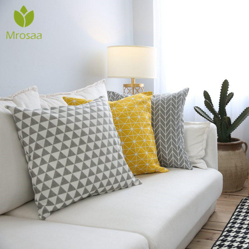 Geometry Printed Sofa Cushion Cover