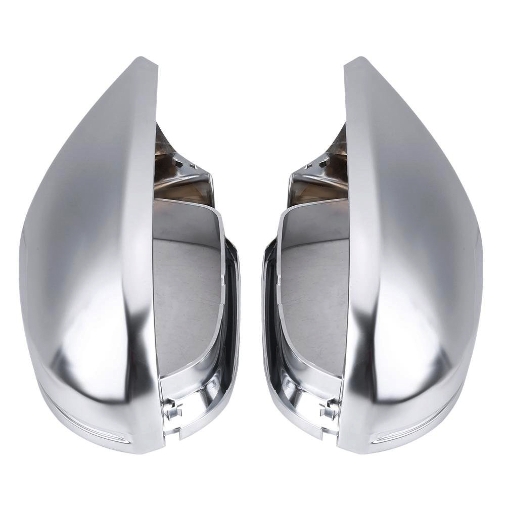 1 Pair Of Rearview Mirror Shell Cover Protection Cap Matte Chrome For Audi A6 C7 S6