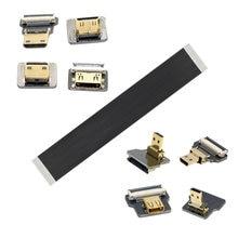 Jimier angular fpv microhdmi compatível para hdmi cabo plano fpc 20 cm 30 cm 50 cm pe pes para sj4000 sjcam