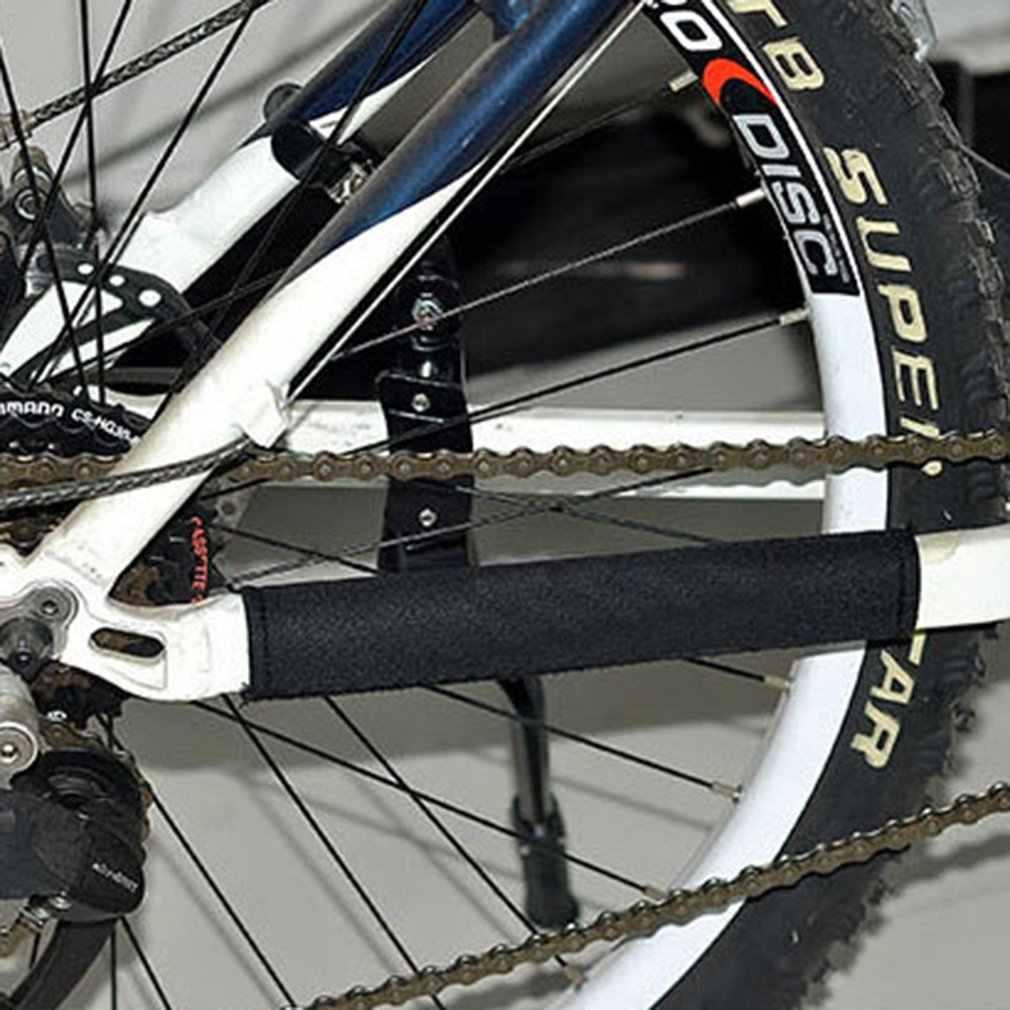 Bicicletas de montanha estrada bicicletas proteção de corrente protetor mergulho tecido proteger peças da roda dentada quadro protetor acessórios da bicicleta