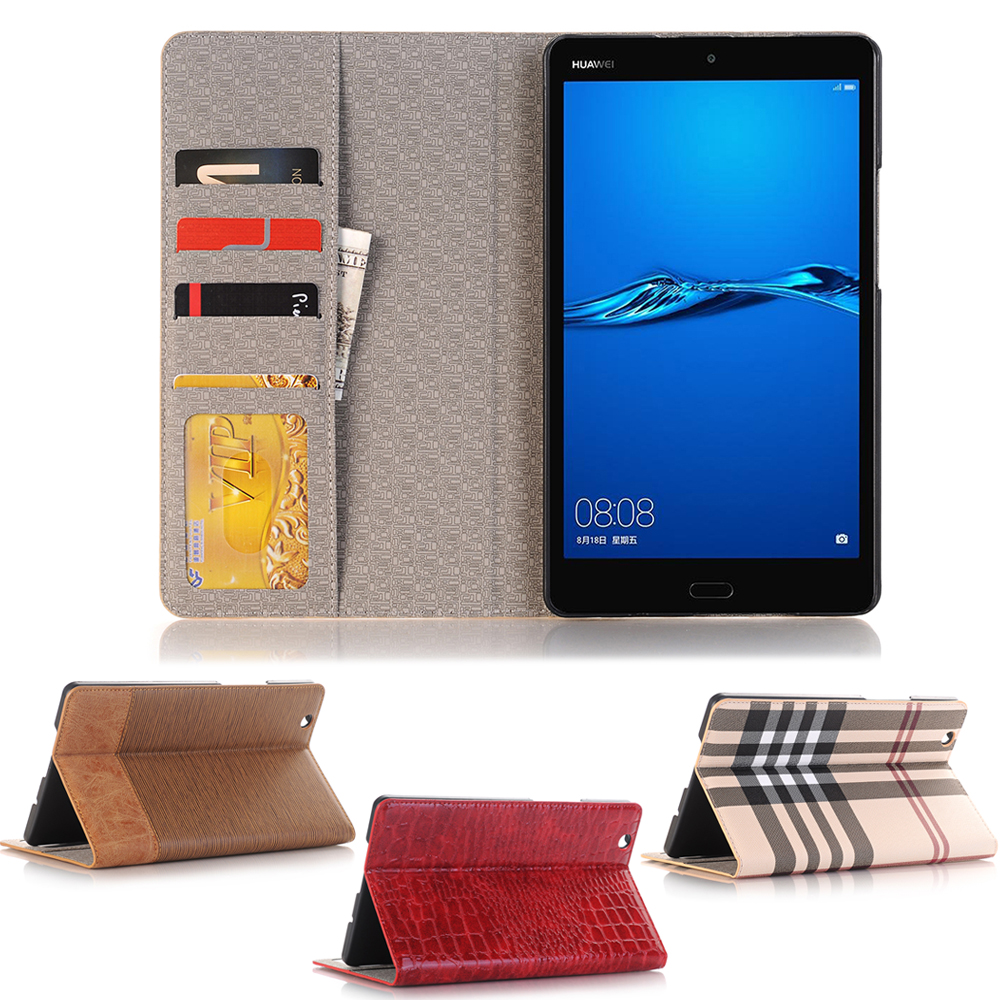Business Leather Case For Huawei Mediapad M3 8.4 BTV-W09 BTV-DL09 8.4 Inch Tablet Support Stand Cover With Card Solt + Gift