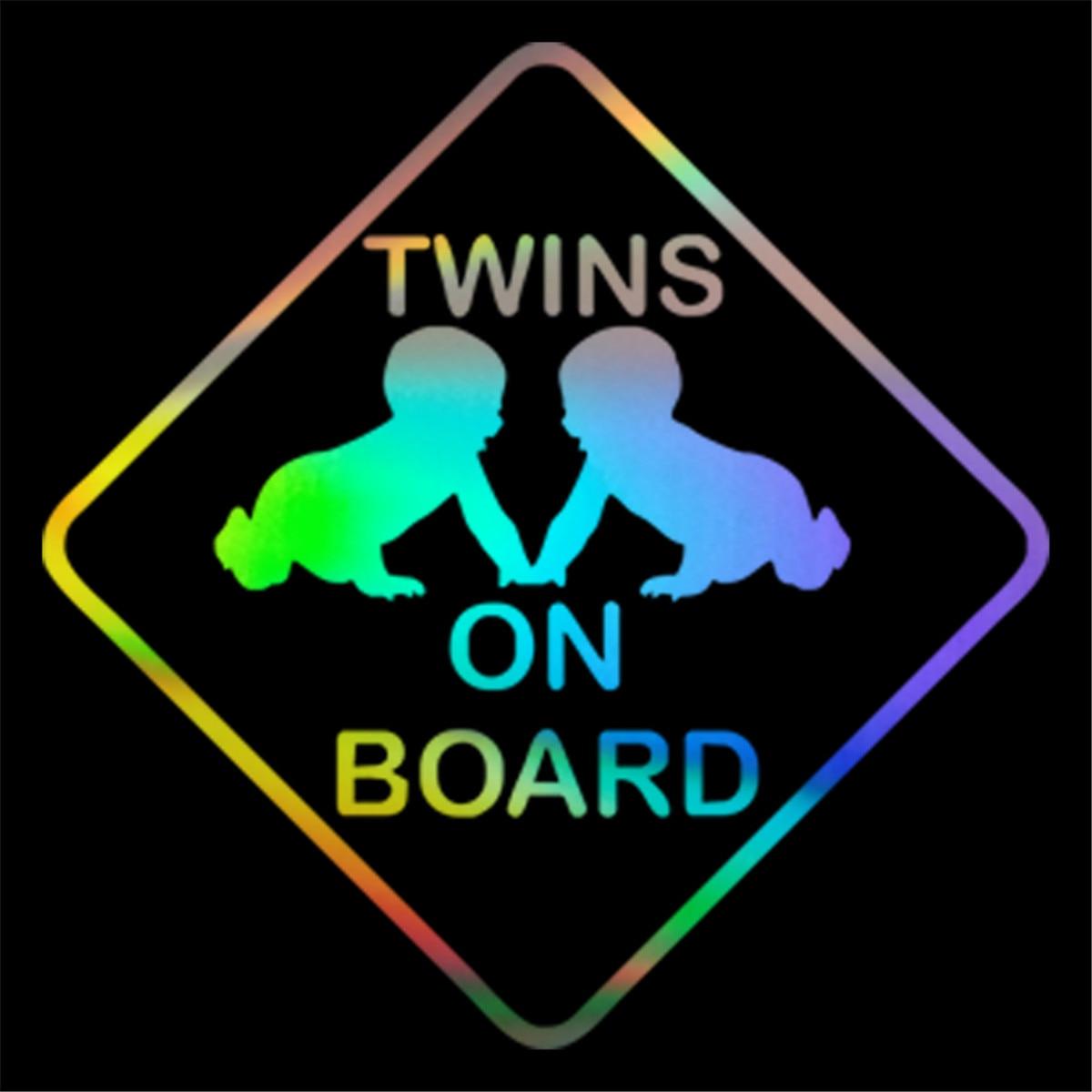 Twins On Board Decal Window Bumper Baby On Board Car Decal Laptop Cute Twins