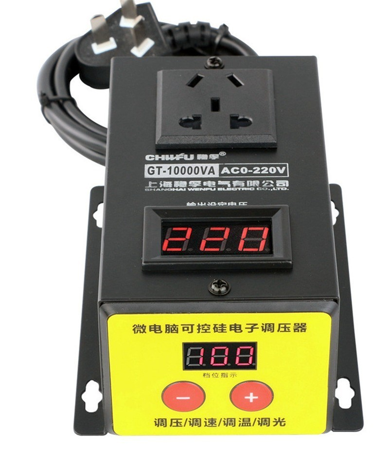Image 4 - 10000w High power Controller Electronics Voltage Organ Electric Machinery Fans Electric Drill Variable speed controller AC 220V-in Motor Controller from Home Improvement