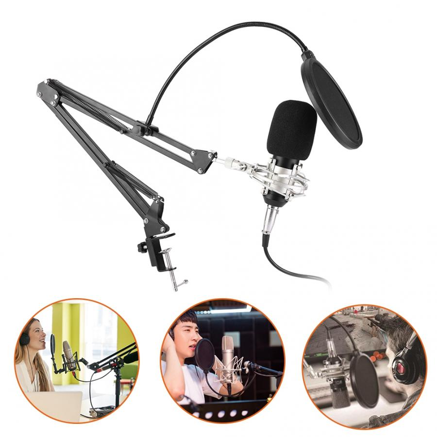 US $31 29 49% OFF|microfono Wired Capacitance Microphone Online Karaoke  Live Recording Microphone studio microphone-in Microphones from Consumer