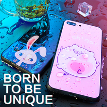 Luxury Tempered Glass Cases For iPhone X XR XS Max Case Cute Cartoon Fundas Hard Cover 10 Coque Capa Bumper