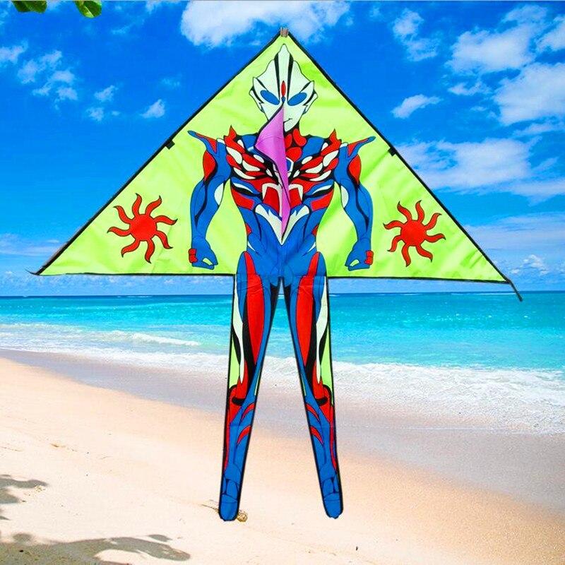 Livraison gratuite de haute qualité 10 pcs/lot cerf-volant superman avec ligne de cerf-volant jouets de plein air volants en nylon ripstop cerfs-volants pour enfants en gros