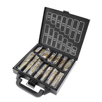 Juego de brocas de titanio con revestimiento de alta velocidad de precisión de 99 piezas HSS herramientas de sierra de perforación resistentes y resistentes