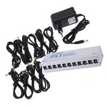 лучшая цена Guitar Pedal Power Supply Guitar Effect Pedal Power Supply Ten Isolated Output 8 Way Stabilized Voltage AC100-240V EU Plug