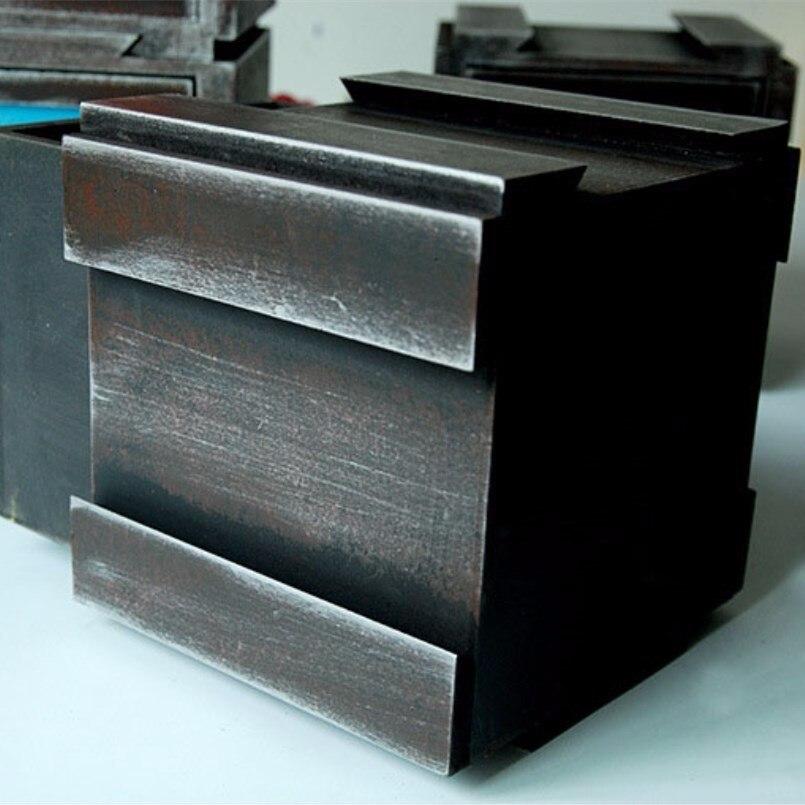 Nouvelles boîtes de rangement rétro en bois multi-fonction changement armoire pour la décoration de la maison combinaison tiroir rangement maquillage organisateur - 4