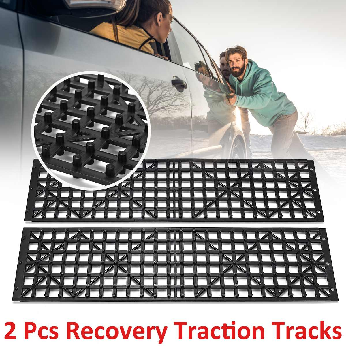 2x Car Recovery Traction Tyre Anti-skid Grip Tracks Truck Winter Snow Chains Tires Mat Wheel Chain Ice Mud Sand Road Tracks(China)