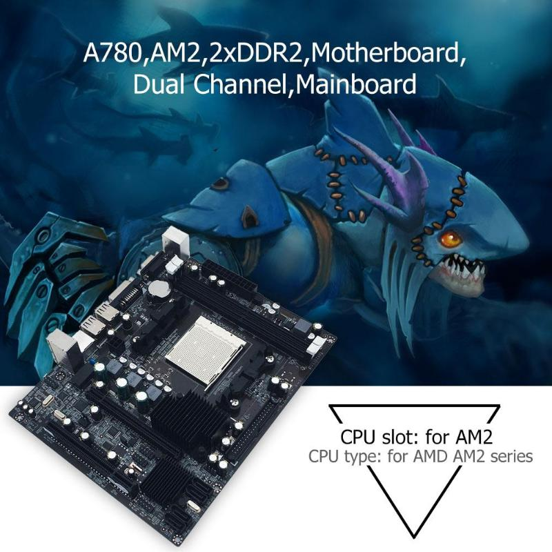 A780 Desktop Computer Motherboard AM2 2xDDR2 PC Mainboard Double Channel Support VGA DVI for AMD AM 2 series 940 pin USB 2.0 IDE-in Motherboards from Computer & Office    3