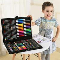 168 Pcs Painting Brush Set Colorful Pencil/ Rollerball Pen/ Wax Crayon And Oil Painting Brush Children Drawing Art Drawing Toys