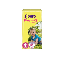 Трусики-подгузники Libero Dry Pants Size 4 (7-11 кг), 34 шт.