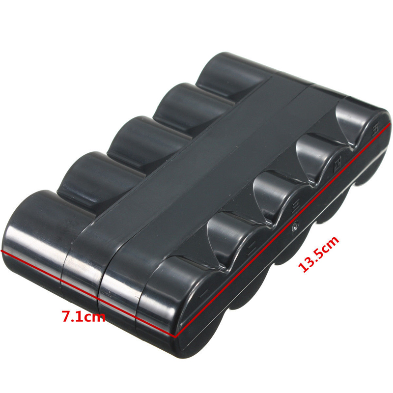 New Waterproof Black Plastic Travel 5 Rolls of 120 Film Case Storage Box 137mm x 73mm title=