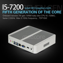 MSECORE Fanless gaming Mini PC i5 7200U Desktop Computer Windows 10 Intel Nettop barebone linux NUC HTPC HD620 Graphics 4K WiFi(China)