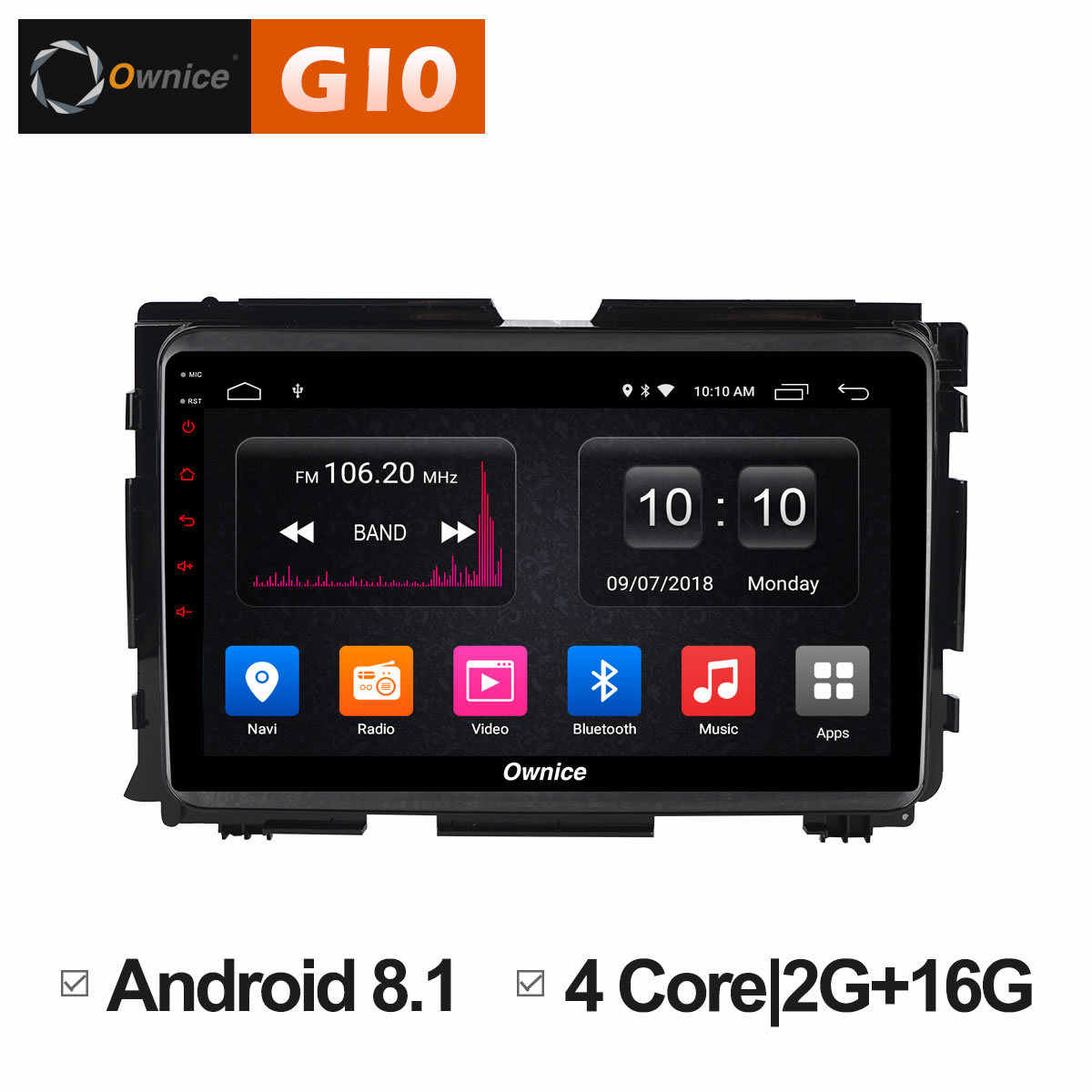 Ownice C500 + G10 Auto Radio Multimedia OEM frame auto PC android 8.1 octa core Video Speler Navigatie GPS Voor XR-V 2015 2016 2017