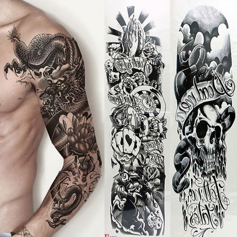 Fashion Nylon Tattoo Sleeves Arm Warmer Unisex UV Protection Outdoor Temporary Fake Tattoo Arm Sleeve Warmer Sleeve(China)