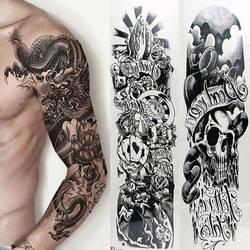 Модные нейлоновый с имитацией татуировки теплый рукав Мужская УФ-защита Открытый Временная подделка рукав с татуировками Теплее рукава