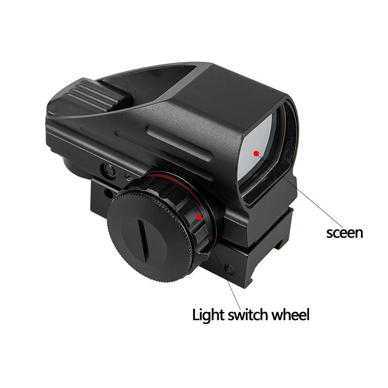 Image 3 - Tactical Reflex Red Green Laser 4 Reticle Holographic Projected Dot Sight Scope Airgun sight Hunting 11mm/20mm Rail Mount AK-in Riflescopes from Sports & Entertainment