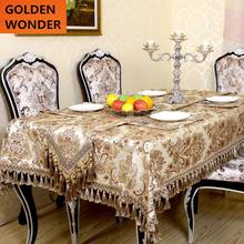 Luxury Jacquard Fabric Table Cloth European Tablecloths Cover