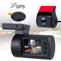 1080P Mini 0906 HD Dual Lens Car Dash Camera GPS DVR Recorder With Night Vision