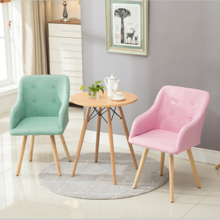 Nordic Style Household Office Chair Modern Dining Chair Hotel Cafe Leisure Chair Fashion Computer Chair Furniture Supply