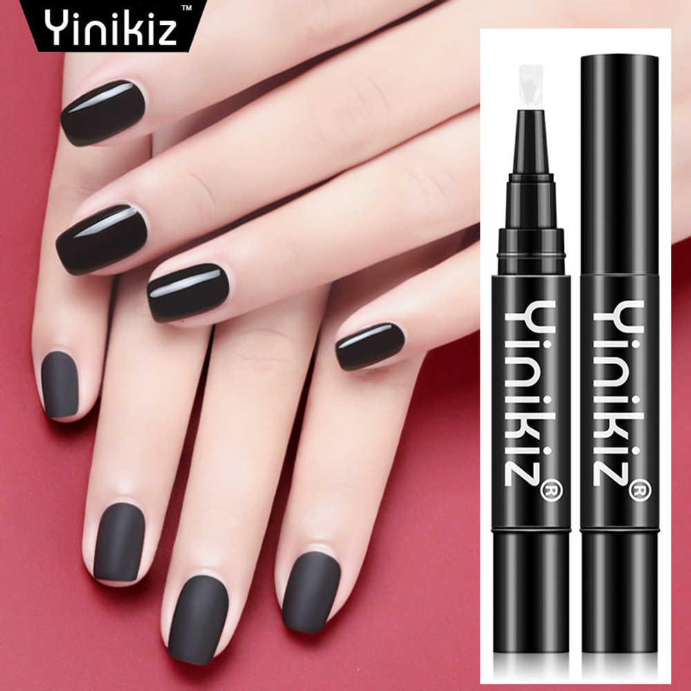 Matte Nagellak Top Coat Gel Pen Frosted Seal Fototherapie Lijm langdurige Witte Seal Potlood Nieuwe Een Stap seal UV TSLM1