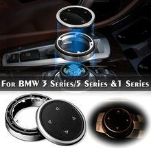 Для iDrive Автомобильный мультимедийный кнопки крышка отделка ручки Стикеры для BMW F10 F20 F30 3 5 серии для НБТ контроллер полупрозрачные и пуговицы