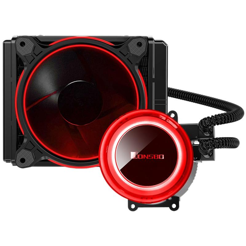 Jonsbo Tw2-120 Cpu refroidissement par eau 4Pin 12 Cm ventilateur Rgb Aura 256 couleur changement automatique Led radiateur pour Amd Intel