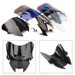VTR 1000F Motorcycle Windshield Windscreen For Honda Super Hawk 1000 1997 1998 1999 2000 2001 2002 2003 2004 2005 Double Bubble
