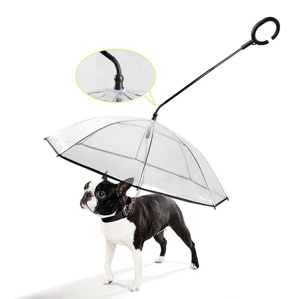 C образный прозрачный зонтик с телескопической ручкой для домашних животных