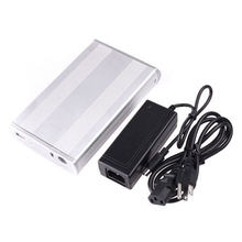 Silver 3 5 Inches USB 2 0 IDE Hard disk HDD Enclosure Cartridge Case
