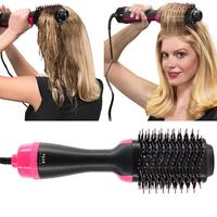 2 in 1 Professional Hair Straightener Curler Comb Electric Blow Dryer Hair Styler Brush Roller Salon Tools Hair styling tools