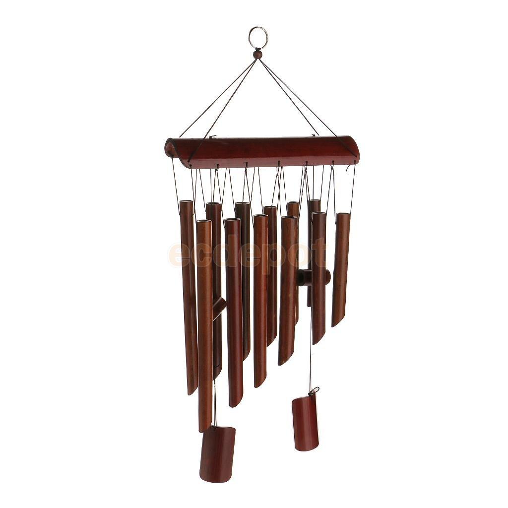 MagiDeal Große Tiefe Entspannende 8 Rohre Bambus Kapelle Glocken Windmühle Windspiele Decor Handgemachte Ornament Garten Outdoor Windchime