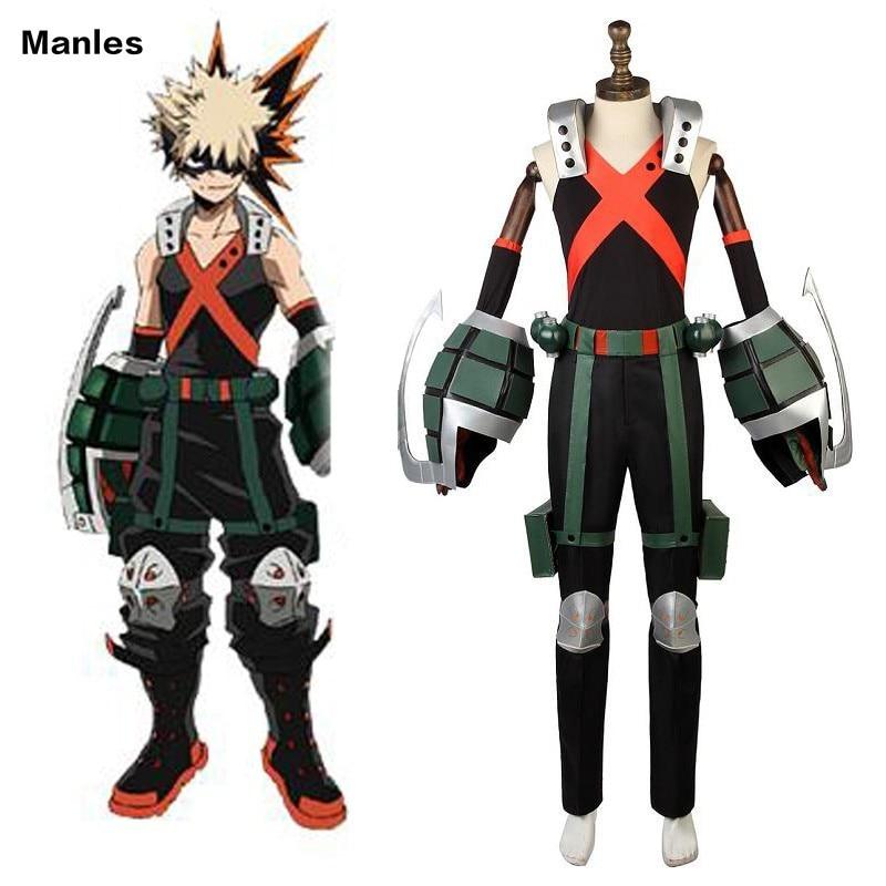 My Hero Academia Cosplay Bakugou Katsuki Costume Herocostume Suit Carnival Adult Men Halloween Custom Made Full Set Props