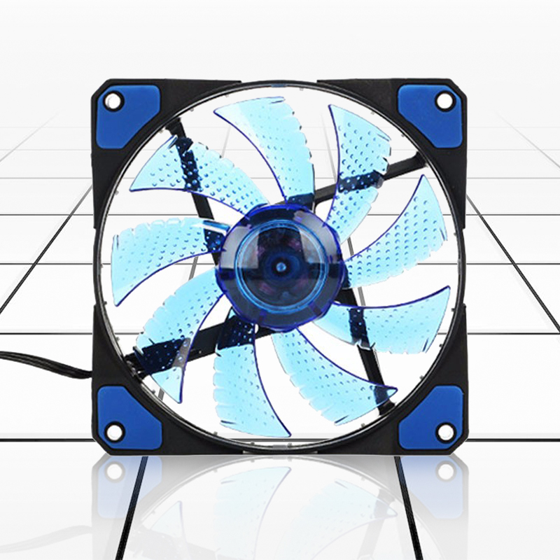 120mm Pc Computer 16db Ultra Silent 33 Leds Case Fan Heatsink Cooler Cooling With Anti-vibration Rubber,12cm Fan,12vdc 3p Ide Excellent (In) Quality